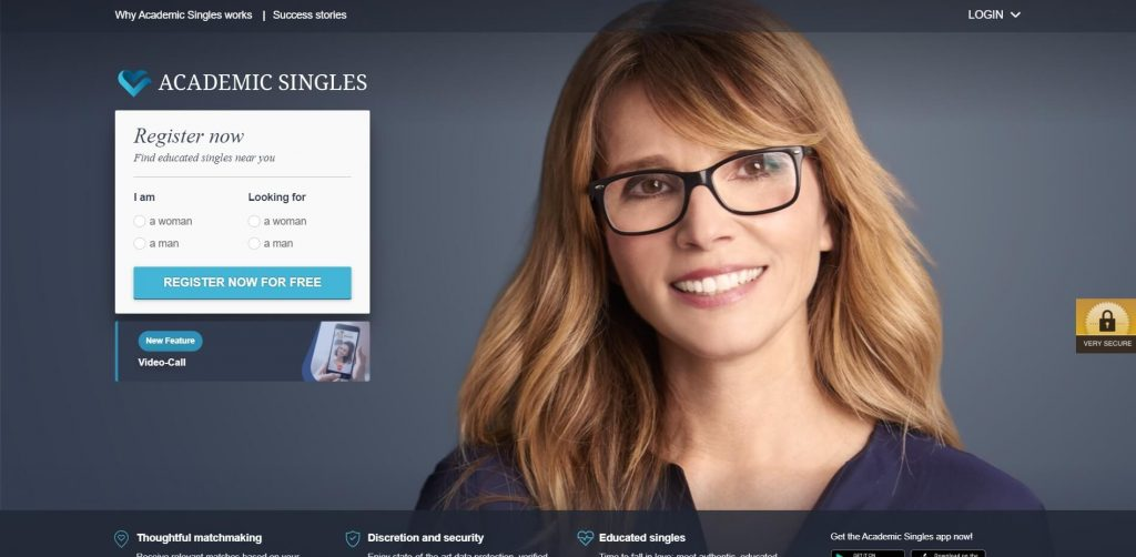Academic Singles Website Screenshot