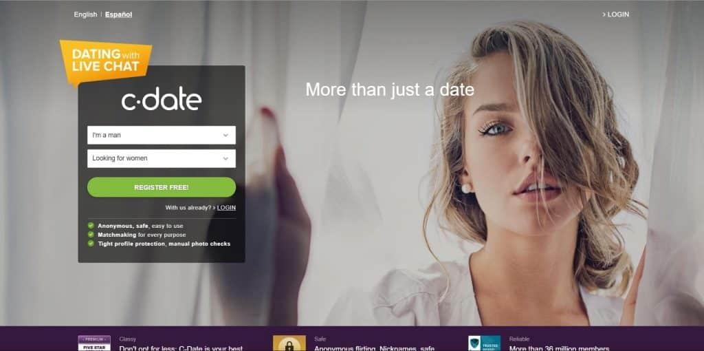 C-Date Website Screenshot