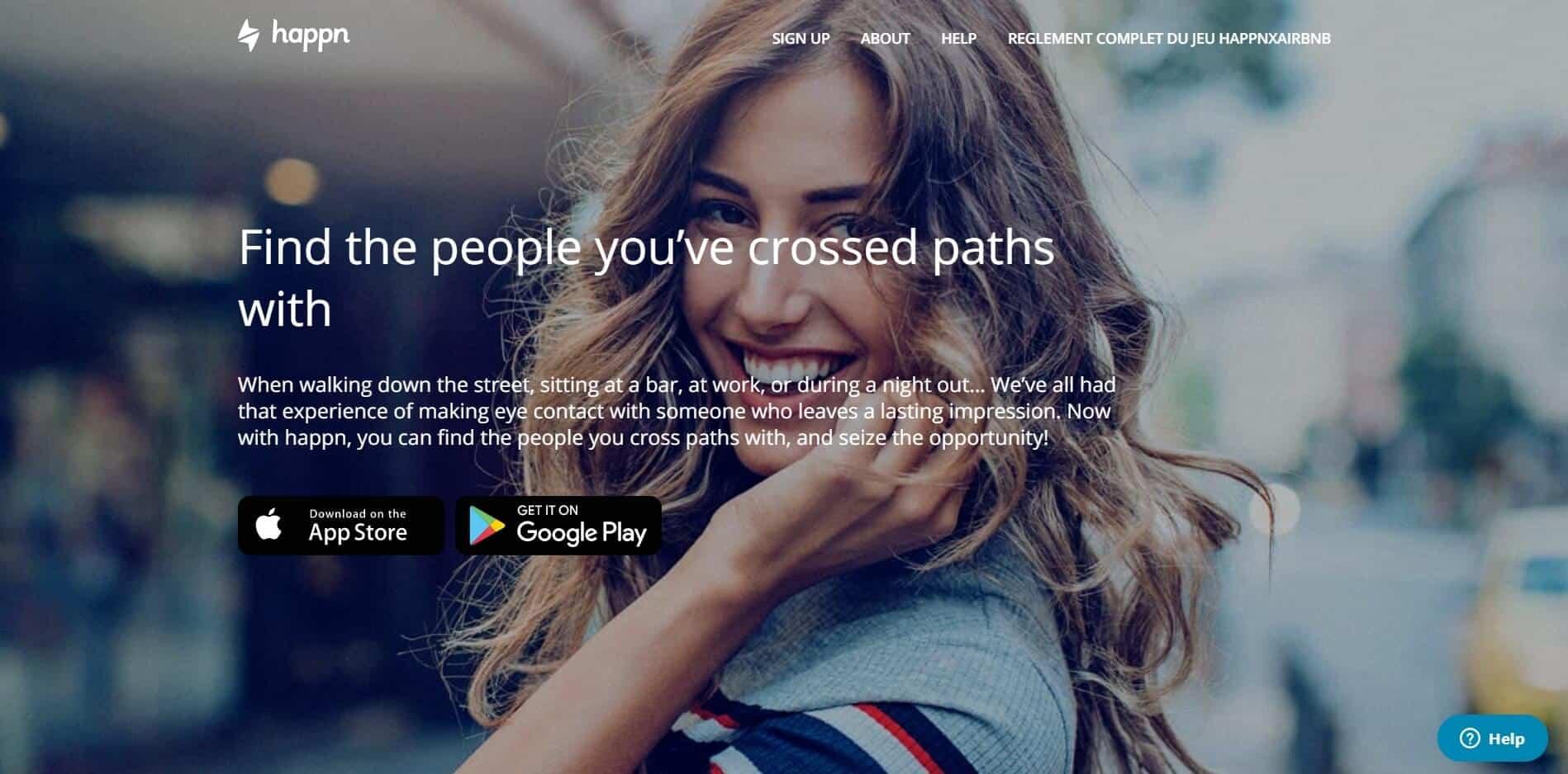 Happn Website Screenshot