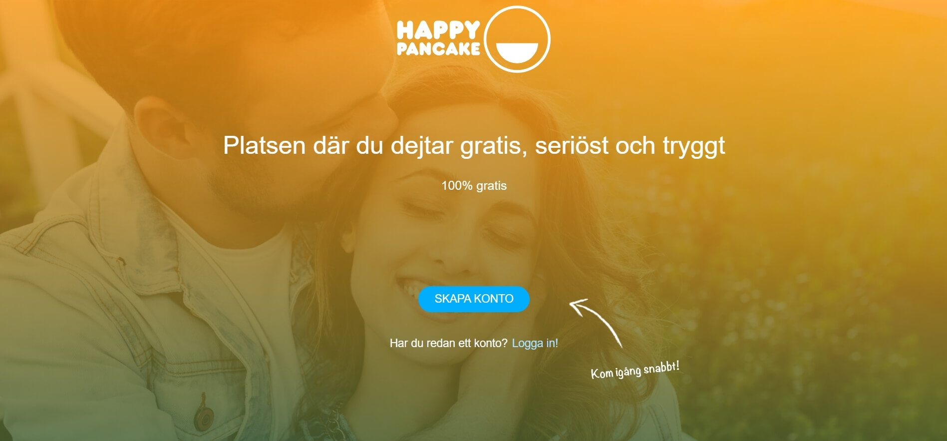 HappyPancake Website Screenshot