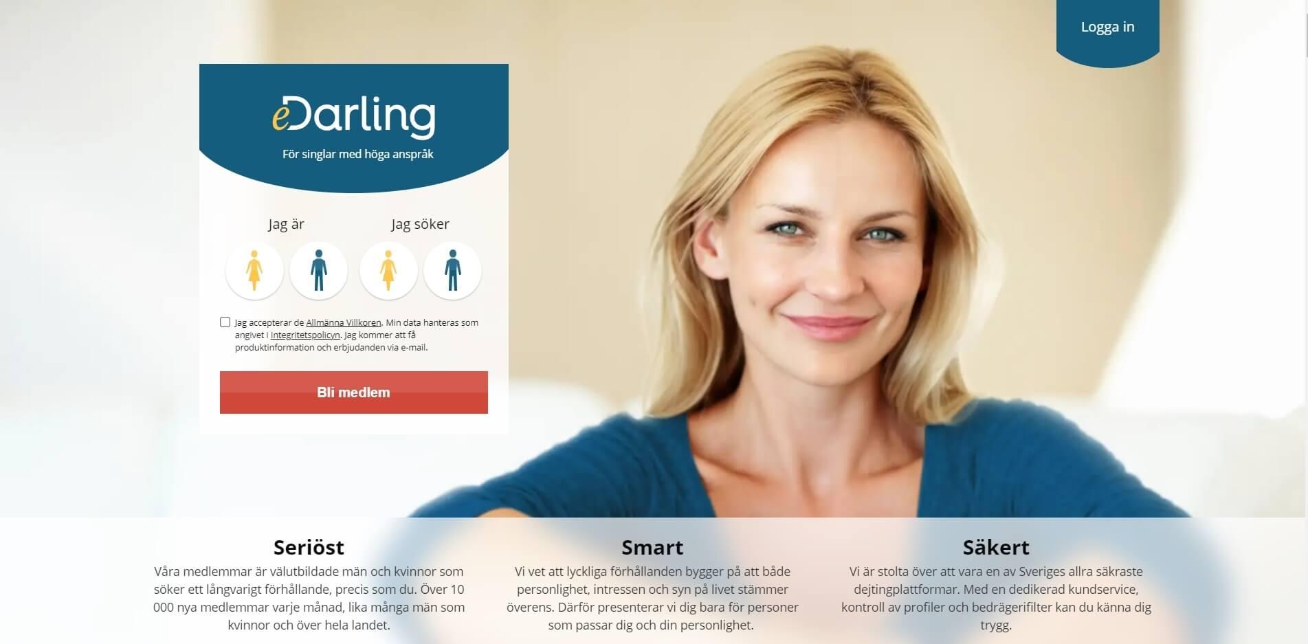 eDarling Website Screenshot